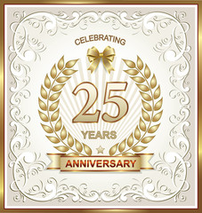 Anniversary card 25 years