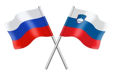 Flags: Russia and Slovenia