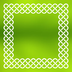Celtic frame over abstract background