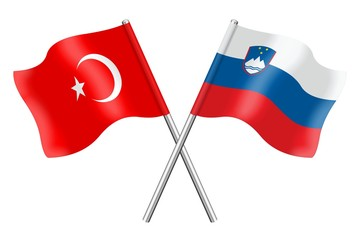 Flags: Turkey and Slovenia