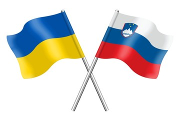 Flags: Ukraine and Slovenia