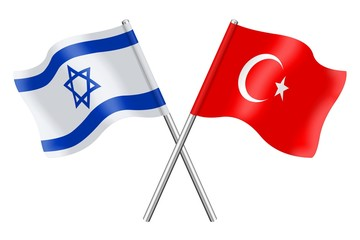 Flags: Israel and Turkey