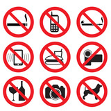 zakaz fotografowania, filmowania, palenia