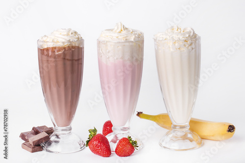 Leinwandbild Motiv Delicious milkshake