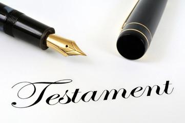 Le testament et le stylo plume