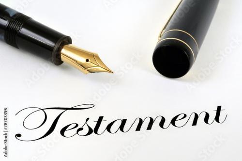 Le testament et le stylo plume - 78703396