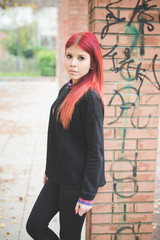 young beautiful red hair venezuelan woman lifestyle