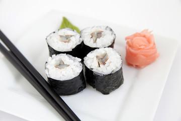 Hosomaki, sardinella. Traditional japanese sushi rolls