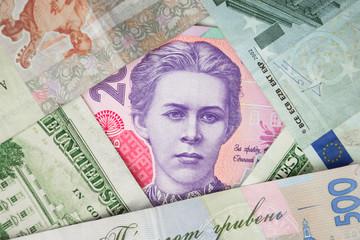 Portrait of Lesya Ukrainka  on the banknote 200 hryvnia - Ukrain