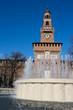 Milan - Sforza Castle, the Torre del Filarete, Italy