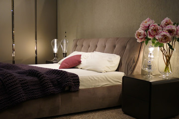 Beautiful  bedroom with nice decoration