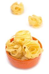 Food still life with Italian pasta (nests)