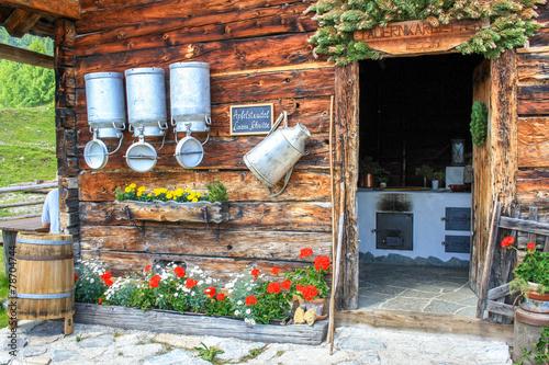 Deurstickers Alpen Tauernkarleitenalm