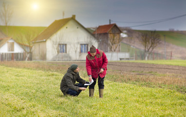 Farmers on farmland