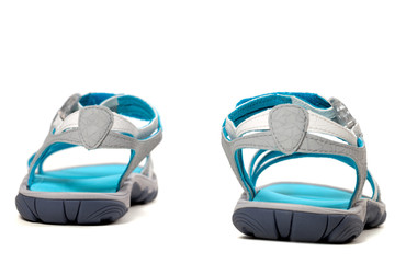 Summer sandals. Back view.