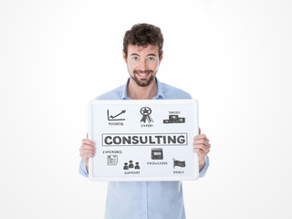 young man offers his consulting for business
