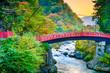 Leinwanddruck Bild - Shinkyo Sacred Bridge in Japan