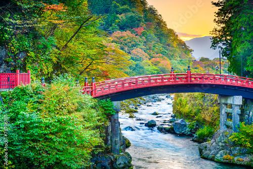 Leinwanddruck Bild Shinkyo Sacred Bridge in Japan