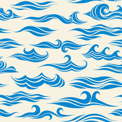 seamless pattern waves from element of the design