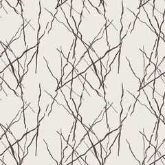 Seamless pattern of lines drawn by brush and ink