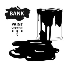 color bank with ink, spots and blot background