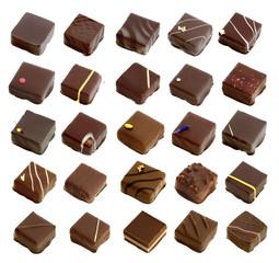 selection of milk, dark and stuffed chocolate