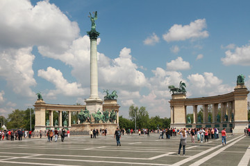 Heroes Square. Budapest, Hungary
