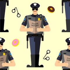 Police Seamless patetrn.