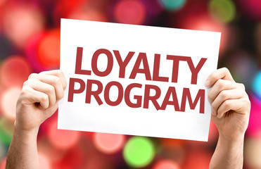 Loyalty Program card with colorful background