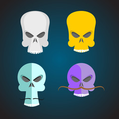 Set Skull Cartoon.