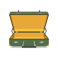 Opened Suitcase isolated