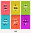 Set of Positive Quote Typographical Background - 78708588