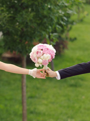 Holding Bouquet Together