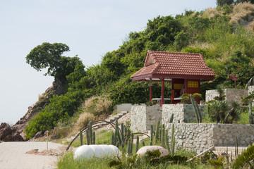 Pavilion on the beach on Koh-Larn island, Thailand
