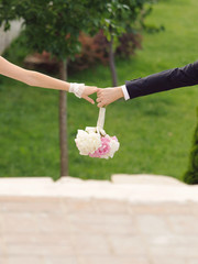 Hands with Bouquet