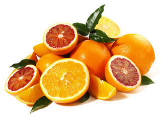 Orangen und Blutorangen