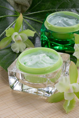 Green Orchids and Moisturising Cream