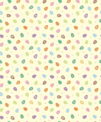 Easter seamless pattern , soft, blurred effect.