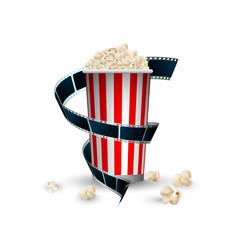 pop corn, pellicola cinema, film, fotogrammi, rullino