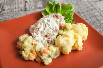 Meat Potato and Vegetables