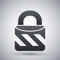 Vector closed padlock icon