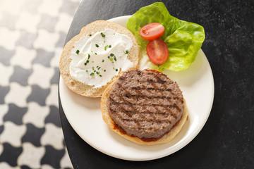 Fresh Hamburger horizontal