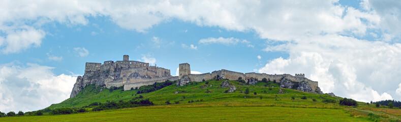 The ruins of Spis Castle (or (Spissky hrad). Slovakia.