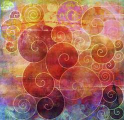 malerei graphik texturen spiralen