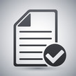 Vector document icon with Ok glyph
