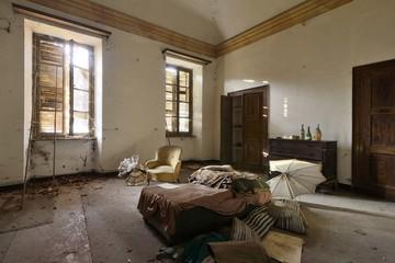 old abandoned bedroom