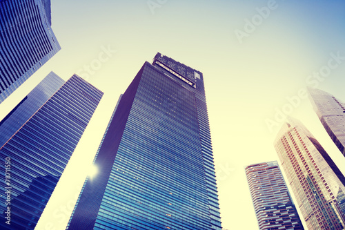 Fotobehang Wand Contemporary Architecture Office Building Cityscape Personal