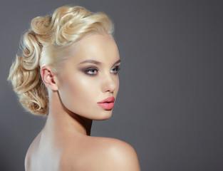 Studio Portrait of Young Woman Blonde