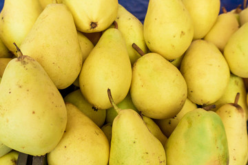 background of ripe pears