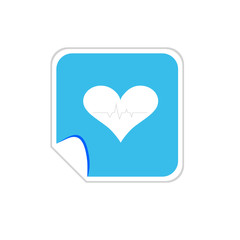 heartbeat blue icon vector